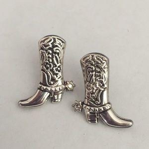 Vintage Cowboy Boot👢 Earrings